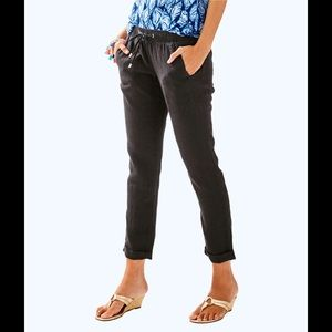 NWT Lilly Pulitzer Aden pant in Onyx